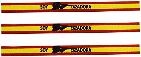 ALBERO Pulsera Soy Cazadora con Bandera de España. Sublimación. 30 x 1.5 cm: Amazon.es: Deportes y aire libre