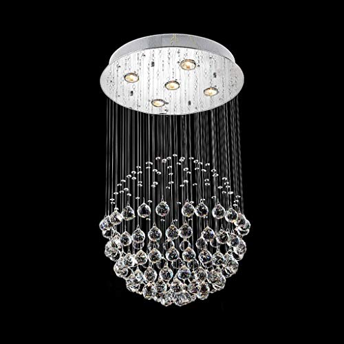 GLXDDB Raindrop Crystal Ball Cylinder Embedded Ceiling Chandelier Modern Minimalist LED Dining Room Living Room Foyer Bedroom Kitchen Entrance Hallway (Size : 50x70cm)