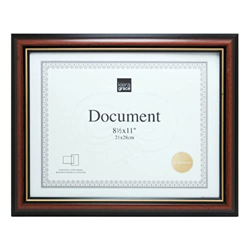 frame border. Plain Border Kiera Grace Kylie Document Frame 85 By 11Inch Document Brown With Gold  Border Intended Frame