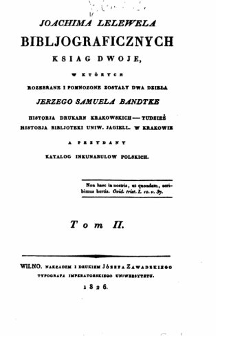Bibljograficznyeh ksiag dwoje - Tom II (Polish Edition) ebook