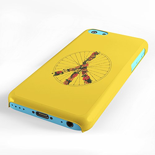 Koveru Back Cover Case for Apple iPhone 5C - Peace and Bike