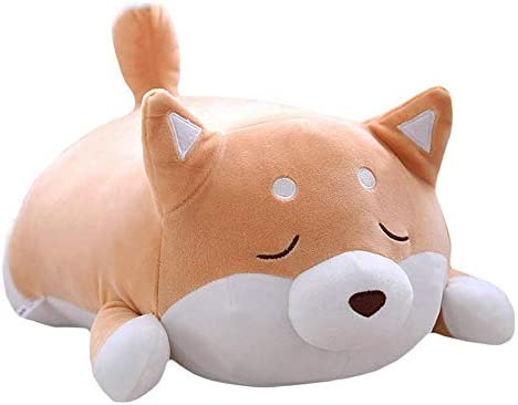 AOLVO - Almohada de Felpa para Perro Shiba Inu 3D, 50 cm ...