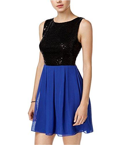 Bee Darlin B. Darlin Womens Sequin A-Line Dress cobaltblack L – Juniors