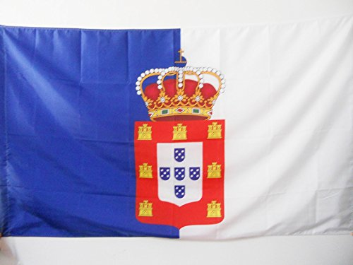 AZ FLAG Kingdom of Portugal 1139-1910 Flag 2' x 3' for a Pole - Royale Portuguese Flags 60 x 90 cm - Banner 2x3 ft with Hole