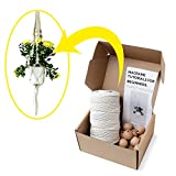 Stillness Crafts Macrame Supplies Plant Hanger Bundle (3-Piece Kit) 3mm Rope Craft Cord, 30mm Beads, and Easy-to-Follow DIY Beginners Guide