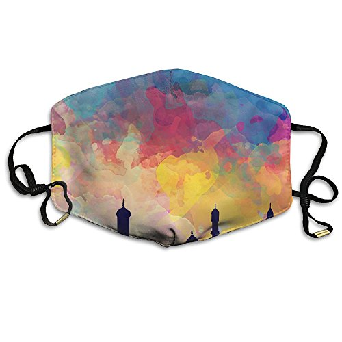 Zafmask Watercolor Colored Sky Mask Can Be Washed Reusable N95 Mask One Size Multiple Colors