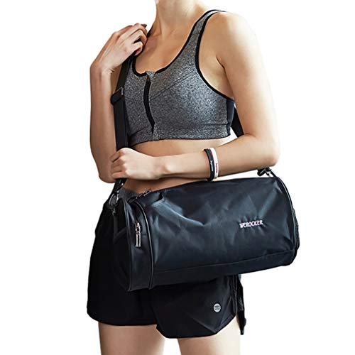 (Sports Gym Bag for Men and Women Workout Bags Mens Gym Bag Black,)