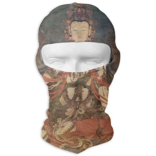 Gomop Ski Cap The Buddha Full Face Mask Wind-Resistant Face Mask -