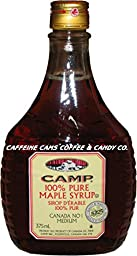 Camp 100% Pure Maple Syrup Canadian No. 1 Medium, 375 Mililiters/12.7 Ounces