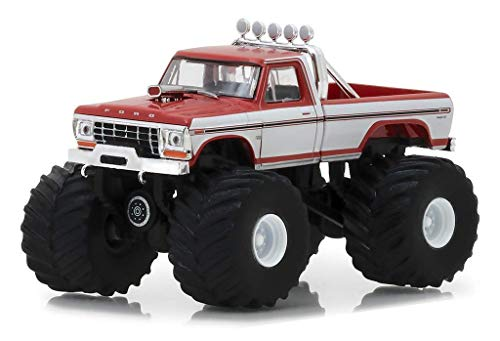 1979 Ford F-series Trucks - 1979 Ford F-250 Monster Truck Red with White Sides Kings of Crunch Series 1/64 Diecast Model Car by Greenlight 49010 E
