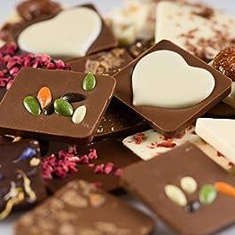 Zeit zu zweit genießen mit diesen 24 Schokoladen-Täfelchen in einer Geschenkbox