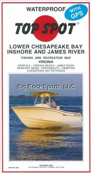 Top Spot Map N246 Lower Chesapeake by Topspot