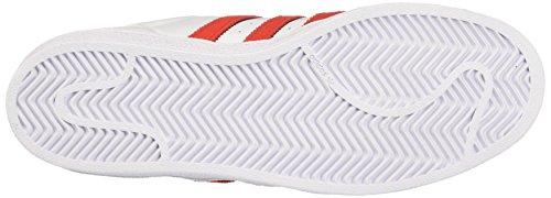 adidas Herren Superstar Sneakers Weiß (Footwear White/solar Red/solar Red)