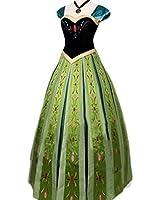 アナと雪の女王 アナ ドレス コスチューム レディース アナ コスプレ衣装 (女M)