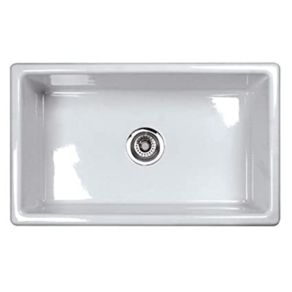 Rohl UM3018WH Shaws Classic 30-Inch Single Bowl Modern Undermount ...