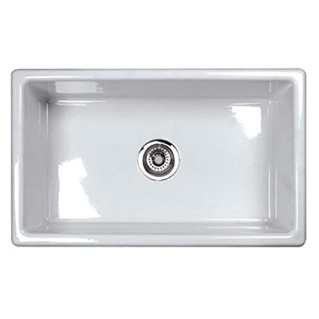 Rohl um3018wh shaws classic 30 inch single bowl modern undermount rohl um3018wh shaws classic 30 inch single bowl modern undermount fireclay kitchen sink white workwithnaturefo