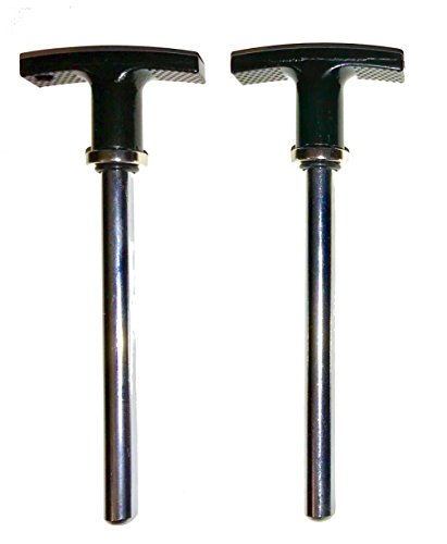 SB Distribution Ltd. SBDs World Class (Pack of 4) Magnetic Steel Pin, Tensile - 3/8'' Dia Shaft 5-1/2'' Locking Space - w/Deluxe Aluminum T Knob   Universal Weight Stack Hitch Pin by SB Distribution Ltd. (Image #2)