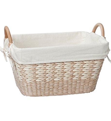 Natural Maize Basket Storage (Creative Bath Towel Utility Basket With Liner, Natural/Bleach)