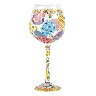 Bling Easter Wine Glass