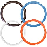 Silicone Sealing Ring for Instant Pot Accessories, Fits Mini 3 Quart Models, Orange, Blue, Brown and Transparent White, Sweet and Savory Edition, Set of 4