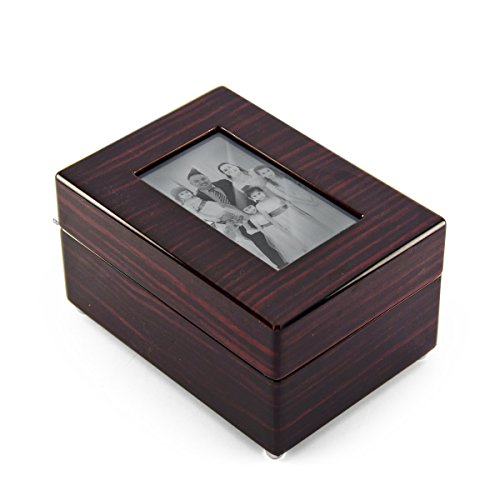 Modern 18 NOTE 5 X 3 Photo Frame Musical Jewelry Box - Over 400 Song Choices - 0 Holy Night by MusicBoxAttic