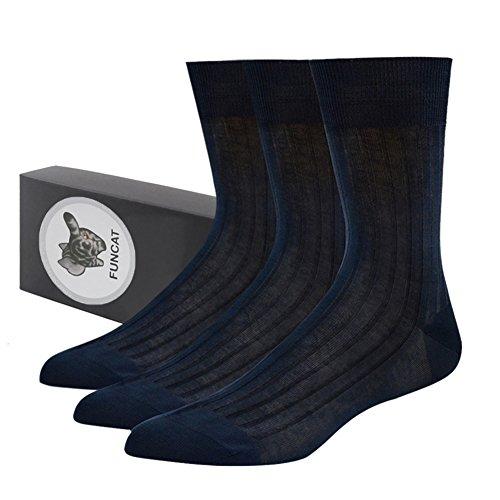 Navy Blue Silk Dress - 3