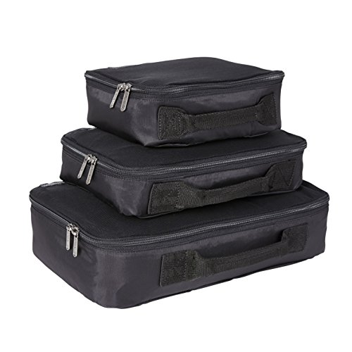 Genius Pack Compression Packing Cubes - Set of 3 (Black)