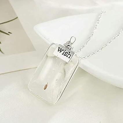 a16003b26d5897 Crystal Glass Pendant Eternal Flower Necklace Simple Design Necklace: Amazon .co.uk: DIY & Tools