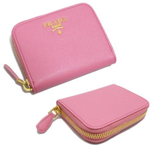 prada knock off purse - Prada Saffiano Metal Zip Around Mini Wallet Coin Purse Geranio ...