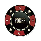 Polyester Round Tablecloth,Poker Tournament,Casino Chip with Poker Word in Center Rich Icon Card Suits Decorative,Army Green Vermilion White,Dining Room Kitchen Picnic Table Cloth Cover,for Outdoor I