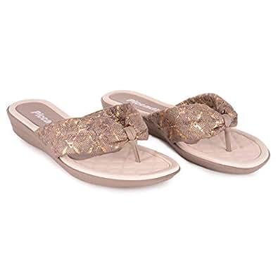 Piccadilly Grey Flip Flops Slipper For Women