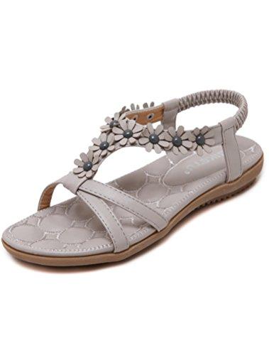 Nuove Scarpe Pantofole Stile Grigio Piatto Donne Tacco Stile Bohemian 9 Vogstyle Sandali A Z45wqfU