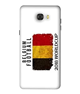 ColorKing Football Belgium 04 White shell case cover for Samsung C9 Pro