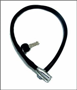 Starry Cierre de Cable Bicicleta Candado 65cm (Negro) 01200143 ...
