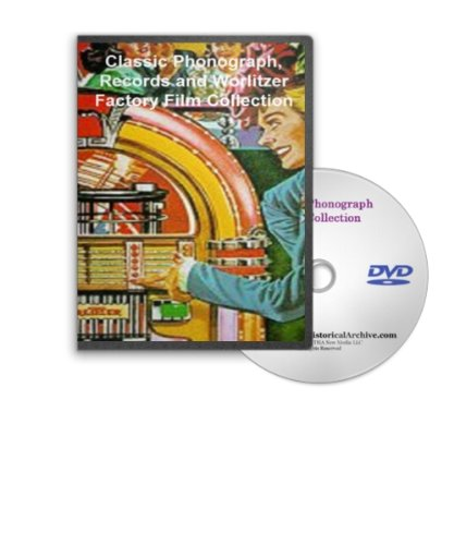Vintage Phonograph and Film History Collection on DVD - Vinyl Record Manufacturing, RCA Victor Stereo Innovations, Wurlitzer Factory Tour, Evolution of Early Cassete Tape Systems and More