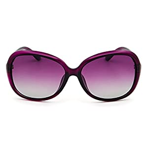 Leckirut Womens Oversized Polarized Sunglasses UV400 Protection Rhinestone Frame Sun Glasses for Driving Travelling purple