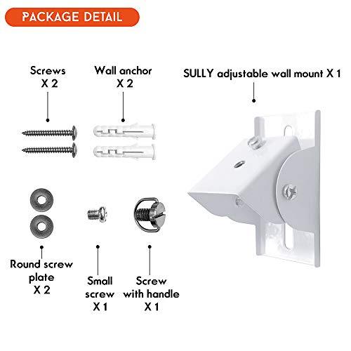Baby Camera Monitor's Mount (Silver White) - Camera Wall Shelf