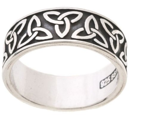 Jewelry Trends Sterling Silver Celtic Trinity Knot Band Ring Size (Celtic Trinity Knot Band)