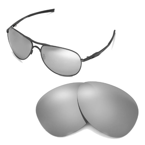 Walleva Replacement Lenses for Oakley Plaintiff Sunglasses - Multiple Options Available (Titanium Mirror Coated - - Sunglasses Plaintiff