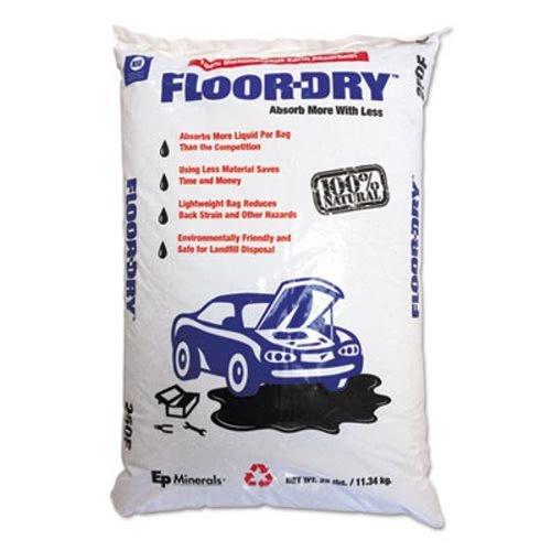 - Floor Dry DE Premium Oil Absorbent, Diatomaceous Earth, 25lb Poly Bag (MOL9825)