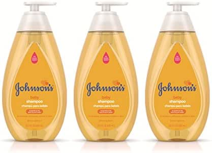 Johnson's Tear Free Baby Shampoo, Free of Parabens, Phthalates and Sulfates, Triple-Pack, 3 x 20.3 fl. oz