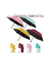 Naughty Boy Lucas Mini Paraguas Plegable con Bolsillo Resistente al Viento y a la Lluvia, Anti UV, portátil, para Viajes, Soleado, días lluviosos
