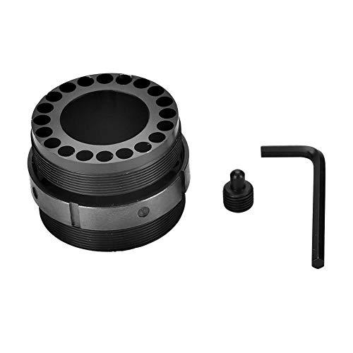 (GOTOTOP Barrel Nut Standard Aluminum Alloy Barrel Nut Removal Tool Barrel Nut Wrench with Steel Jam Nut Ring for Free Float Quad Rail (Black))