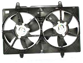 TYC 620940 Nissan Quest Replacement Radiator/Condenser Cooling Fan Assembly - New Radiator Fan Assembly