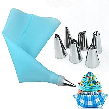 Melysus 8 PCS/SET Silicone Icing Piping Cream Pastry Bag