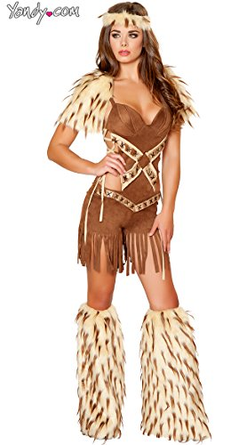 Roma Costume Women's 2 piece Native American Warrior, Brown, Medium - Roma Indian Costume