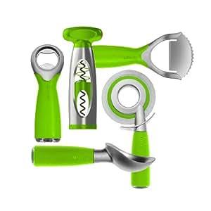 Art and Cook 5-Piece Zinc Positive Party Set, Green