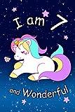 I am 7 and Wonderful: Cute Unicorn 6x9 Activity