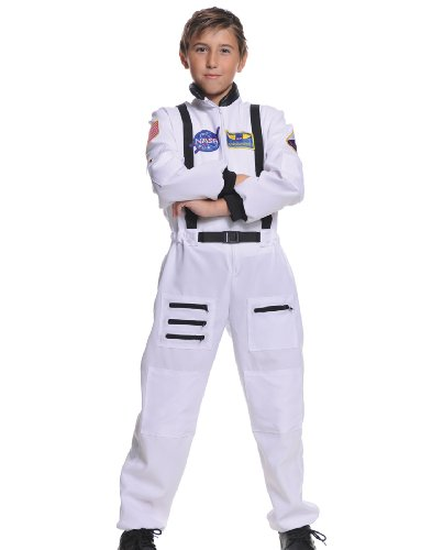 Underwraps Children's Astronaut Costume - White, Large (10-12)