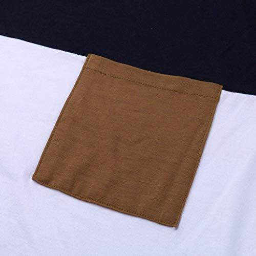 Haut Navy Femme De Confortable Bonne T Top Courtes Casual Cou Poches Qualit Couleurs Chic Mode Shirt Avant Et Manches V Mlanges Tshirt Elgante Tops rrgwRUTqd